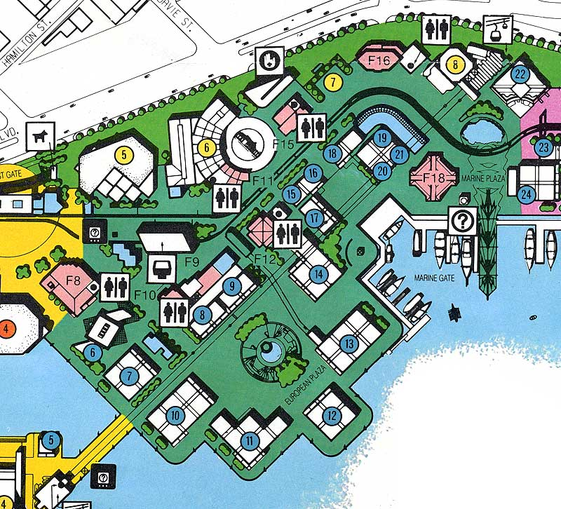 EXPO86 GREEN ZONE MAP